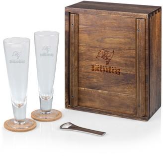 Picnic Time Tampa Bay Buccaneers Pilsner Beer Glass Gift Set