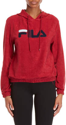 Fila Logo Embroidered Terry Hoodie