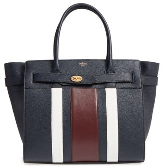 Mulberry Bayswater College Zipped Leather Satchel - Blue $1,825 thestylecure.com