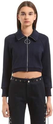 Mid-Length Sleeve Knit Sweatshirt
