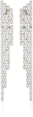 As 29 AS29 Baguette 4 Row Diamond & 18K White Gold Cascade Earrings