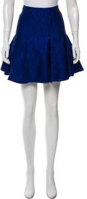 Fendi Textured Fit Flare Skirt
