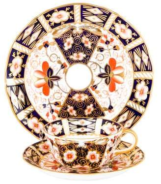 Royal Crown Derby Antique 57-Piece Traditional Imari Dessert Service
