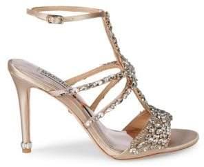 ef4317c6e Badgley Mischka Hughes Embellished Metallic High-Heel Sandals