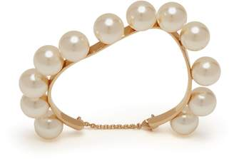 Mulberry Twist Pearl Bracelet Cream Brass and Pearls