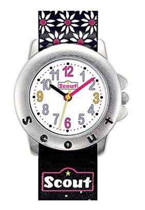 Scout girls' wrist watch, analogue, quartz, faux leather 280393027