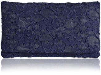 Emma Gordon London Astrid Navy Lace Clutch Larger Size