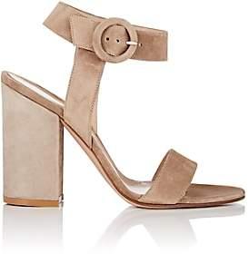 Gianvito Rossi Women's Block-Heel Suede Sandals-Toast