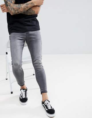 Pull&Bear Super Skinny Jeans In Mid Gray