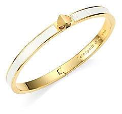 Kate Spade Women's Thin Enamel & Goldtone Spade Hinge Bangle Bracelet