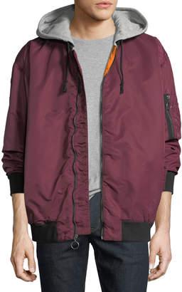 Hudson Men's Hooded Bomber Jacket