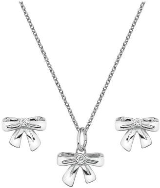 Hot Diamonds Accents By Accents by Sterling Silver Pendant & Earrings