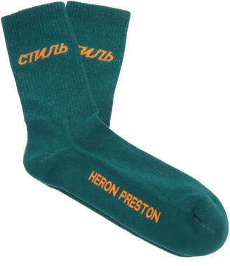 Heron Preston СТИЛЬ Cotton-Blend Crew Socks