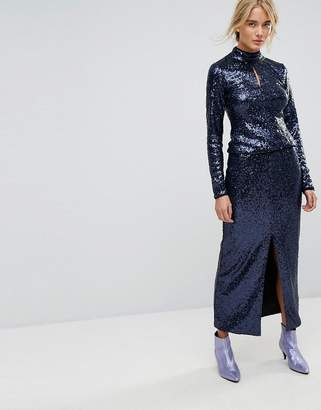 Gestuz Long Sequin Skirt