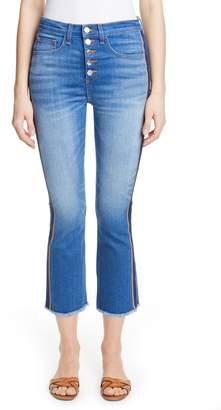 Veronica Beard Carolyn Tuxedo Stripe Baby Boot Crop Jeans