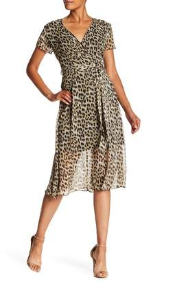 philosophy Animal Print Surplice Neck Dress