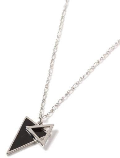 Halskette mit Dreiecksanhänger, silber