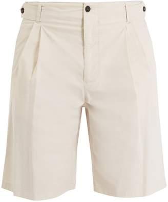 Giorgio Armani Pleat-detail stretch-cotton tailored shorts