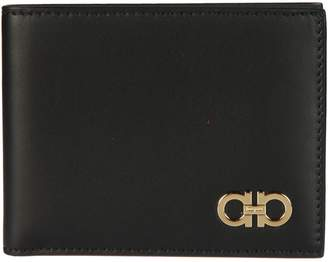 Salvatore Ferragamo Gancini Detailed Bifold Wallet