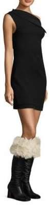 Helmut Lang Asymmetric Wool Mini Dress
