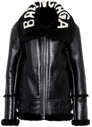 Balenciaga The Bombardier shearling jacket