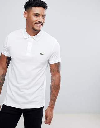 Lacoste Slim Fit Logo Polo Shirt In White