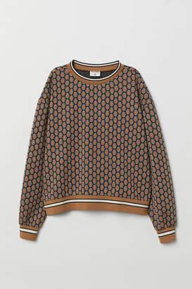 H&M Patterned Top - Black