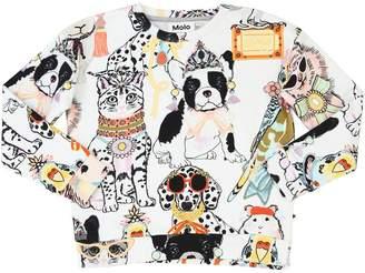 Molo Animal Print Cotton Sweatshirt