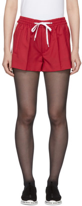 Miu Miu Red Drawstring Shorts