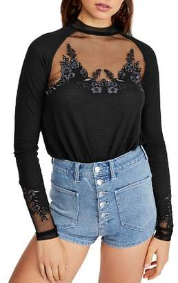 Free People Saheli Floral-Embroidered Top
