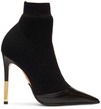 Balmain Black Aurore Sock Boots