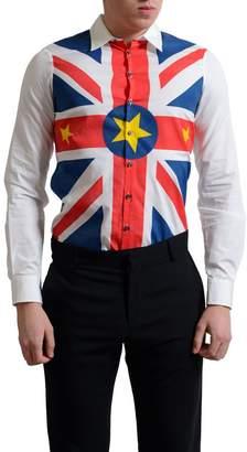 DSQUARED2 Men's Multi-Color Graphic Button Down Casual Shirt