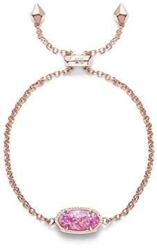 Kendra Scott Elaina Adjustable Chain Bracelet In Fuchsia Kyocera Opal