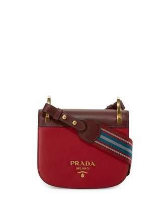 Prada Pionnière Web-Strap Shoulder Bag, Red (Rubino/Granato) $1,770 thestylecure.com