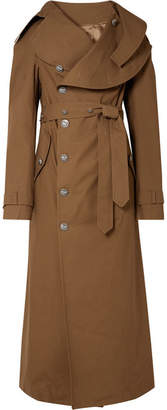 Awake Belted Cotton-gabardine Trench Coat - Brown
