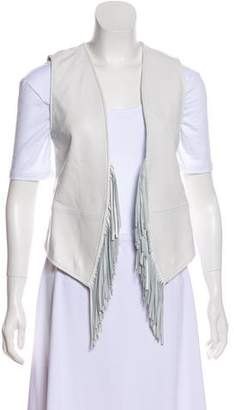 Rebecca Minkoff Tiffy Fringe Leather Vest w/ Tags