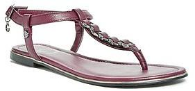 GByGUESS G By Guess Honda Chain T-Strap Sandals $29.99 thestylecure.com