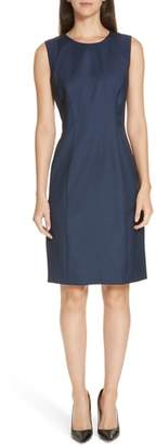 BOSS Dagita Stretch Wool Blend Sheath Dress