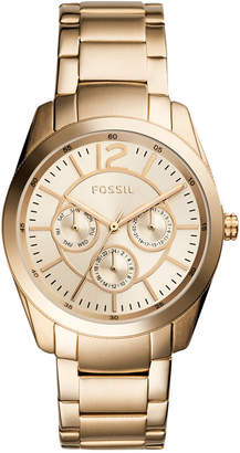 Fossil Women's Brenna Gold-Tone Stainless Steel Bracelet Watch 38mm $135 thestylecure.com