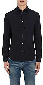 Maison Margiela Men's Cotton Poplin Slim-Fit Shirt - Black
