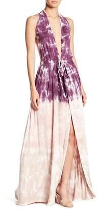 Couture Go Plunge Sleeveless Washed Maxi Dress