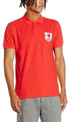 Toffs Retro Football Men's Wales Short Sleeve Polo Shirt
