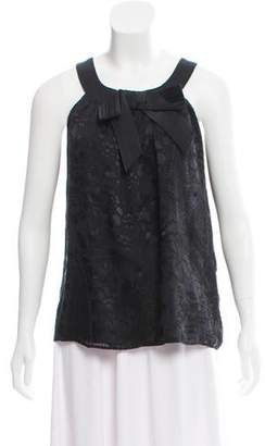 Tibi Bow-Accented Sleeveless Top