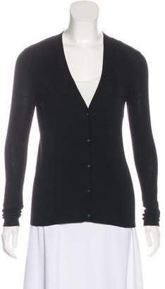 Tory Burch Merino Wool V-Neck Cardigan