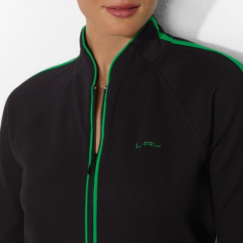 Ralph Lauren Stretch-Cotton Mockneck Jacket