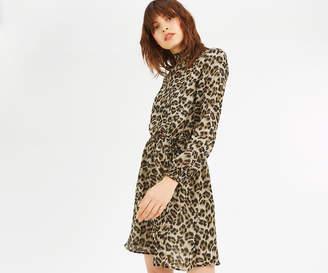 Oasis ANIMAL HIGH NECK DRESS