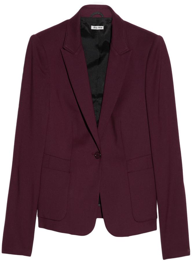 Miu Miu Stretch wool-gabardine blazer