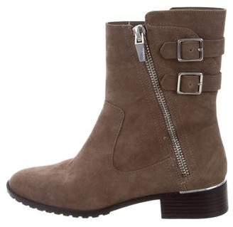 Calvin Klein Suede Mid-Calf Boots