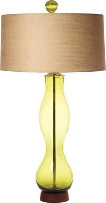 Rejuvenation Olive Wave Table Lamp
