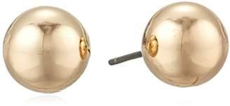 Chaps Women's 10Mm Round Metal Stud Earrings